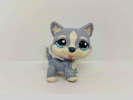 Littlest Pet Shop LPS husky kutya figura (használt)