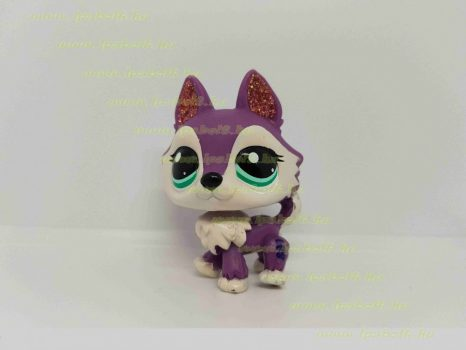 Littlest Pet Shop LPS farkas kutya figura (használt)
