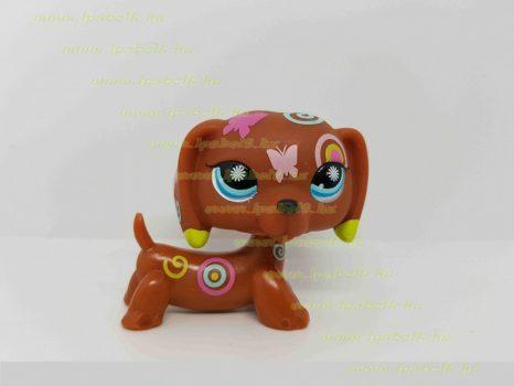 Littlest Pet Shop LPS tacskó kutya figura (használt)