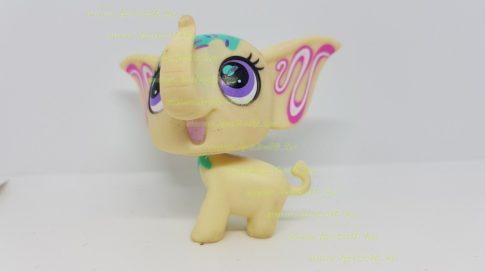 Littlest Pet Shop LPS elefánt figura (használt, szépséghibás)