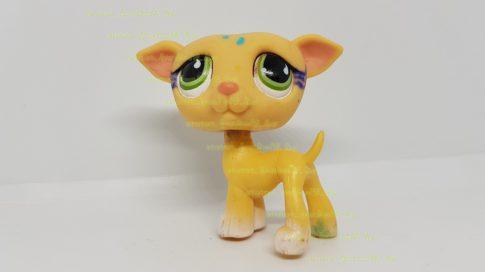 Littlest Pet Shop LPS agár kutya figura (használt, szépséghibás)