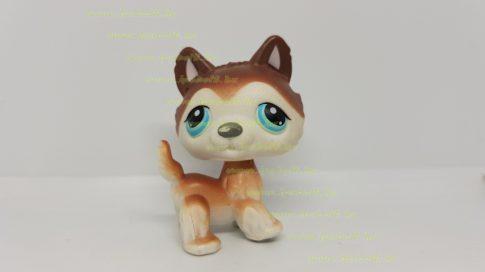 Littlest Pet Shop LPS husky kutya figura (használt, szépséghibás)