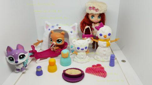 Littlest Pet Shop LPS Blythe baba figurákkal és kiegészítőkkel (használt)