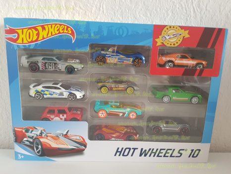 Mattel Hot Wheels 10 darabos kisautó készlet (új)