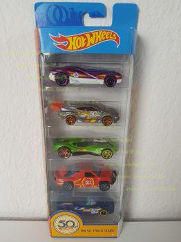 Mattel Hot Wheels 5 darabos kisautó készlet Track Stars (új)