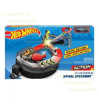 Mattel Hot Wheels spirál autópálya kisautóval és kilövővel (új)